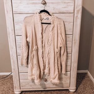 Anthropologie Fringe Cardigan